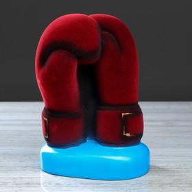 """Копилка """"Боксерские перчатки"""", флок, сине-красный, 22 см"""
