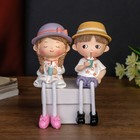 """Souvenir Polyresin """"Toddler/Baby in a hat with a cocktail"""" long legs MIX 18х6,5x7,5 cm"""