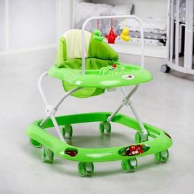 Ходунки «Маленький водитель С», 8 сил. колес, муз., зеленый