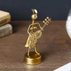 "Souvenir metal ""Girl-Samodelkin musician"" gold MIX 12h4,5x5,5 cm"