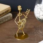 """Souvenir metal """"Boy-Samodelkin musician"""" gold MIX 12,5x4,8x5 cm"""