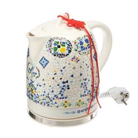 "Чайник электрический Endever Skyline KR-420 C, 1600 Вт, 1.7 л, керамика ""мозайка"""