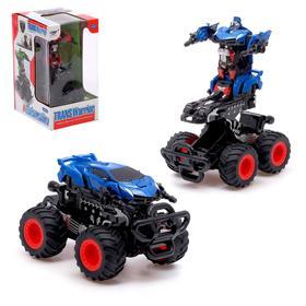 """Робот """"Монстр"""", трансформируется, инерционный, цвет синий"""