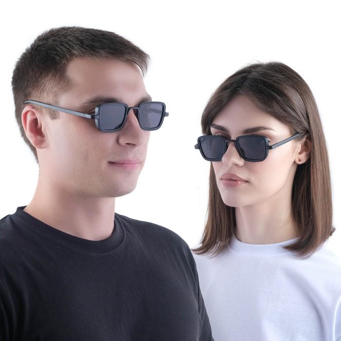 """Очки солнцезащитные """"Мастер."""", uv 400, 14х14х4.5 см, линза 3.5х5 см, чёрные"""
