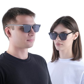 "Очки солнцезащитные ""Мастер К."", uv 400, 14х14х4.5 см, линза 4.5х5 см, зеркальные"