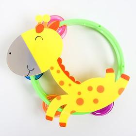 Погремушка музыкальная «Жирафик/лошадка, бубен», виды МИКС