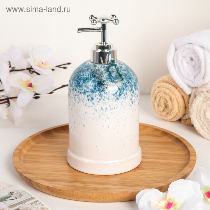 Soap dispenser Butterfly, color mother of pearl