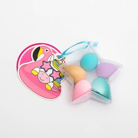 "Set of sponges for make-up star ""Edinoroses"", 7.5 x 8.5 x 3 cm"