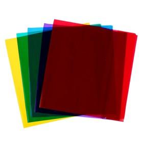 Обложка для учебников 233 х 455, 110 мкм, ПВХ, универсальная цветная, МИКС