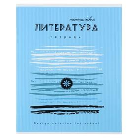 Тетрадь предметная Арт 40 листов в линейку «Литература», мелованный картон, ВД-лак, со справочными материалами