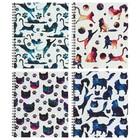 Тетрадь 48 листов в клетку, на гребне «Космические коты», мелованный картон, ВД-лак, микс