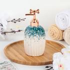 Дозатор для жидкого мыла «Карма», 400 мл, цвет бирюзовый