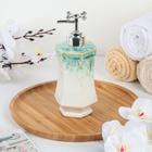 Дозатор для жидкого мыла «Эльза», 450 мл, цвет бирюзовый