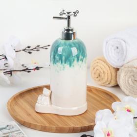 Дозатор для жидкого мыла «Мишутка», цвет бирюзовый - фото 1603295