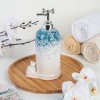 Дозатор для жидкого мыла «Мишутка», цвет голубой - фото 1603303