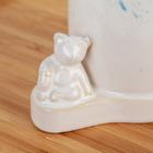 Дозатор для жидкого мыла «Мишутка», цвет голубой - фото 1603304