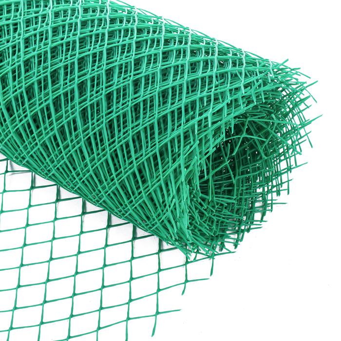 Сетка садовая, 1.5 × 25 м, ячейка 4 × 4 см, зелёная