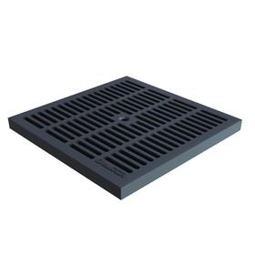 Решетка водоприемная пластик ячеистая к дождеприёмнику 30*30, чёрная