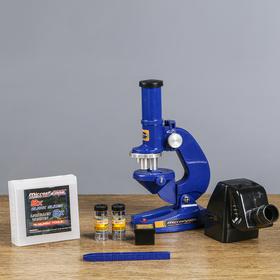 """Микроскоп с проектором """"Отличник"""", кратность увеличения 450х, 200х, 100х, с подсветкой,"""