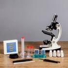 """Микроскоп с проектором """"Профи"""", кратность увеличения 50-1200х, с подсветкой, в кейсе - фото 1560554"""