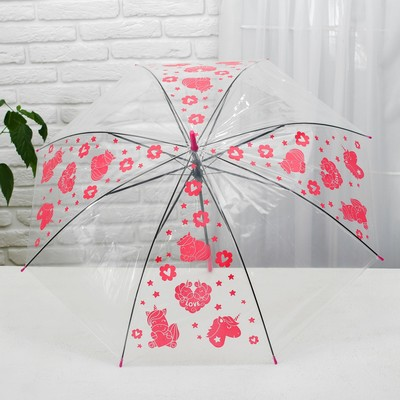 "Umbrella child ""Love"" transparent 90cm"