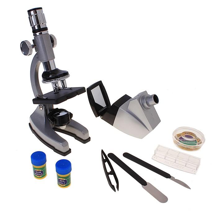 """Микроскоп """"Профи плюс"""" 50х-1200х, набор для исследований"""