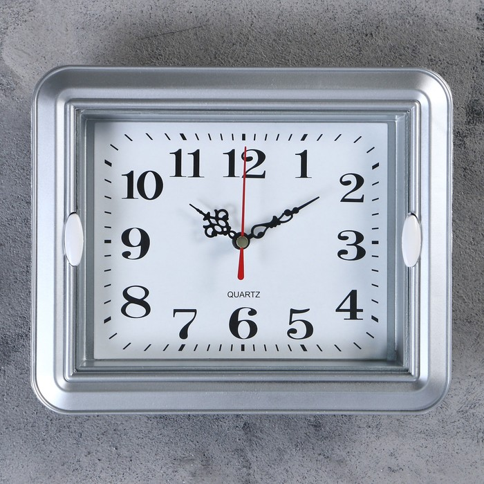 "Часы настенные, серия: Классика, ""Янита"",  22х3х18 см, 1 АА,  плавный ход - фото 798470050"