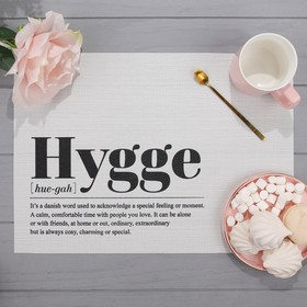 "Салфетка на стол ""Hygge"", ПВХ, 40х29 см"