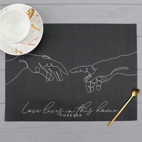 Салфетка на стол Love lives, ПВХ, 40х29 см