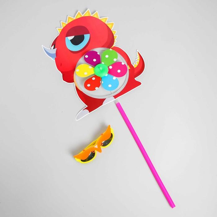 Летний набор 2 предмета: ветерок, детские очки, цвета МИКС