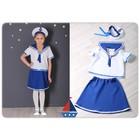 Карнавальный костюм «Морячка», блузка, юбка, бескозырка, рост 122 см