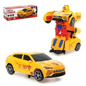 Робот-трансформер «Автобот», световые и звуковые эффекты, работает от батареек, цвет жёлтый