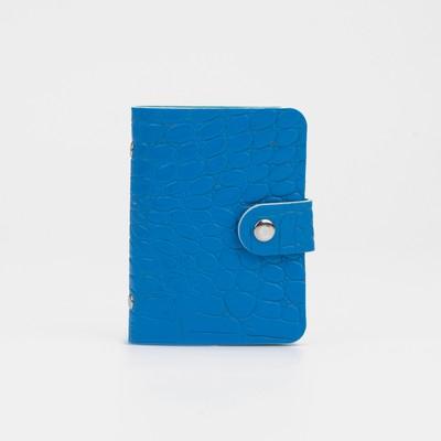 Business card holder, Crocodile, 8*1*10,5, 12 cardholders, blue