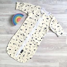 Спальный мешок, 8-12 месяцев, принт кляксы