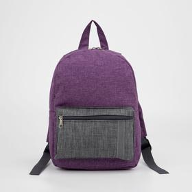 4818 P-600 / D Backpack det., 21 * 11 * 29, separate with a zipper, n / pocket, light-reflecting strip, sirens / gray