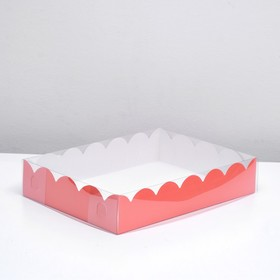 Box for biscuit, red, 40 x 30 x 8 cm