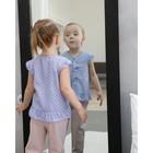 Блузка с короткими рукавами для девочки MINAKU, рост 98, цвет фиолетовый/белый - фото 105465002
