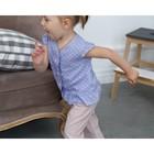 Блузка с короткими рукавами для девочки MINAKU, рост 98, цвет фиолетовый/белый - фото 105465004