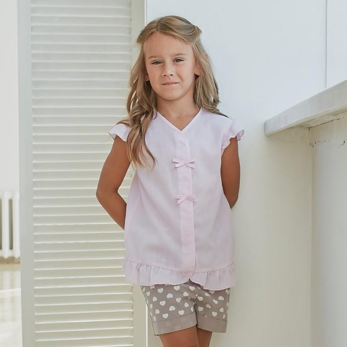 Блузка для девочки MINAKU: cotton collection romantic цвет сиреневый, рост 104 см - фото 798471120