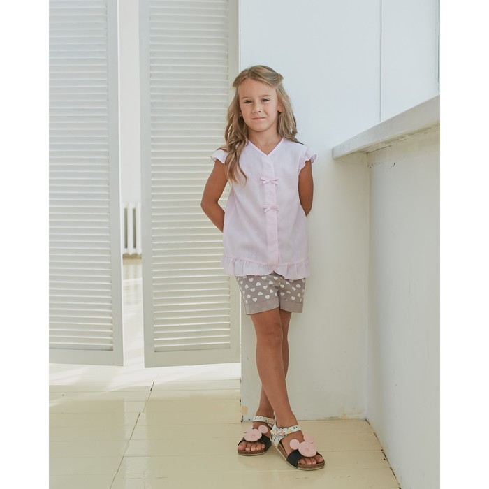 Блузка для девочки MINAKU: cotton collection romantic цвет сиреневый, рост 110 см - фото 105465078