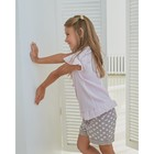 Блузка для девочки MINAKU: cotton collection romantic цвет сиреневый, рост 110 см - фото 105465080