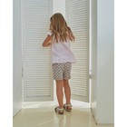 Блузка для девочки MINAKU: cotton collection romantic цвет сиреневый, рост 110 см - фото 105465081