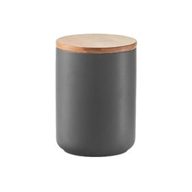 Банка для хранения продуктов 650 мл, 10×13.5 см, керамика/бамбук, антрацит