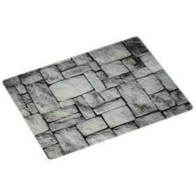 Доска разделочная «Камни» 40×30×0.4 см, стекло