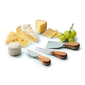 Набор для нарезки сыра, 3 предмета, акация