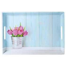 Поднос «Тюльпаны» 50×35×4.5 см
