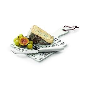 Сервировочный набор для сыра: нож, доска