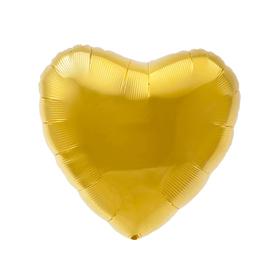 """Шар фольгированный 30"""", сердце, цвет золотой"""
