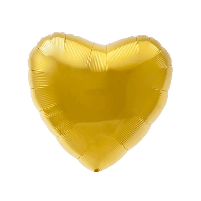 """Шар фольгированный 30"""", сердце, цвет золотой - фото 7639756"""