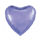 """Шар фольгированный 30"""", сердце, пастельный фиолетовый - фото 7639758"""